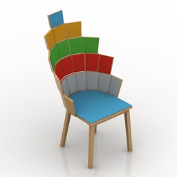 Chair Loaves and fishes 3d model