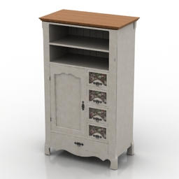 Cupboard Belfan Trouville 3d model
