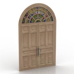 Door color glass 3d model