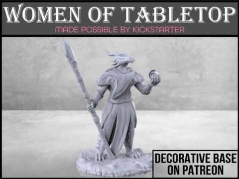 Dragonborn Sorceress - Tabletop Miniature
