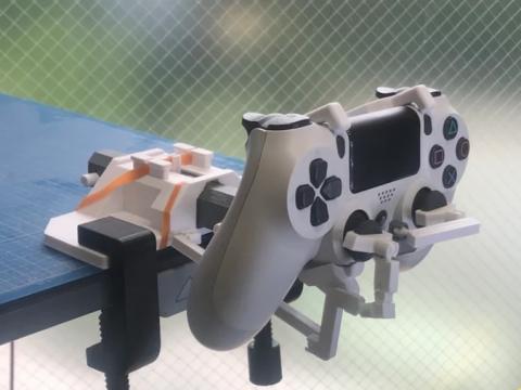 DualShock Yoke for flight simulators