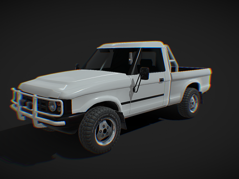 Generic 90s light pickup - Low poly model