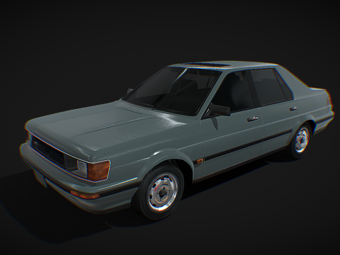 Generic sedan 1986 - Low poly model