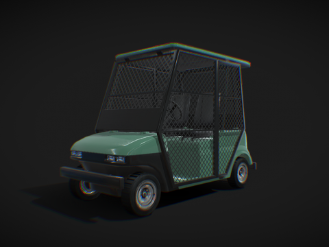 Golf car - Low Poly model