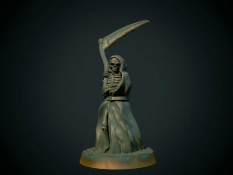 Grim Reaper 28mm (supportless, FDM friendly)