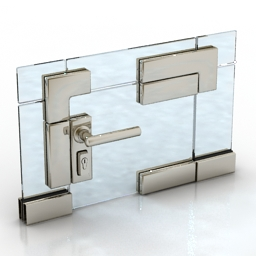 Handle glass door module 3d model
