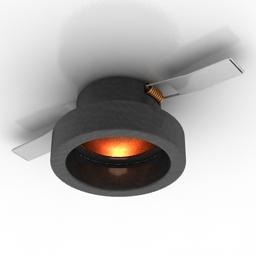Lamp spot 006136 LEI MINI BIANCO 3d model