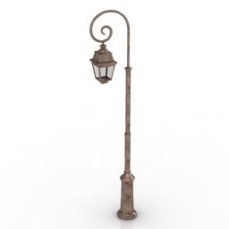 Lamppost Roger Pradier Avenue 3d model