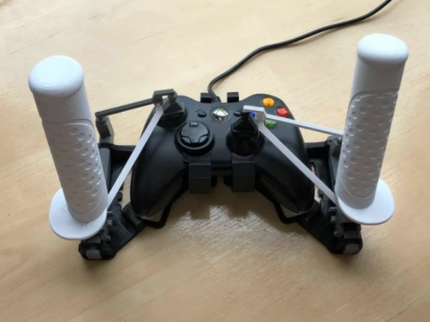 Left-hand-side joystick mod for Snap-on gamepad HOTAS