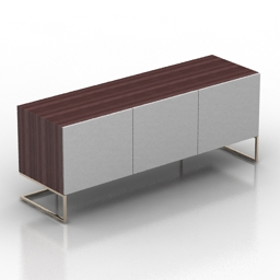 Locker pianca spazio moduli tv stand 3d model