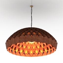 Luster Edward Linacre Nest Lamp bamboo 3d model