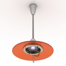 Luster Falling Chandelier with diffuser 3d model