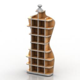 Rack margaret shelves 3d model