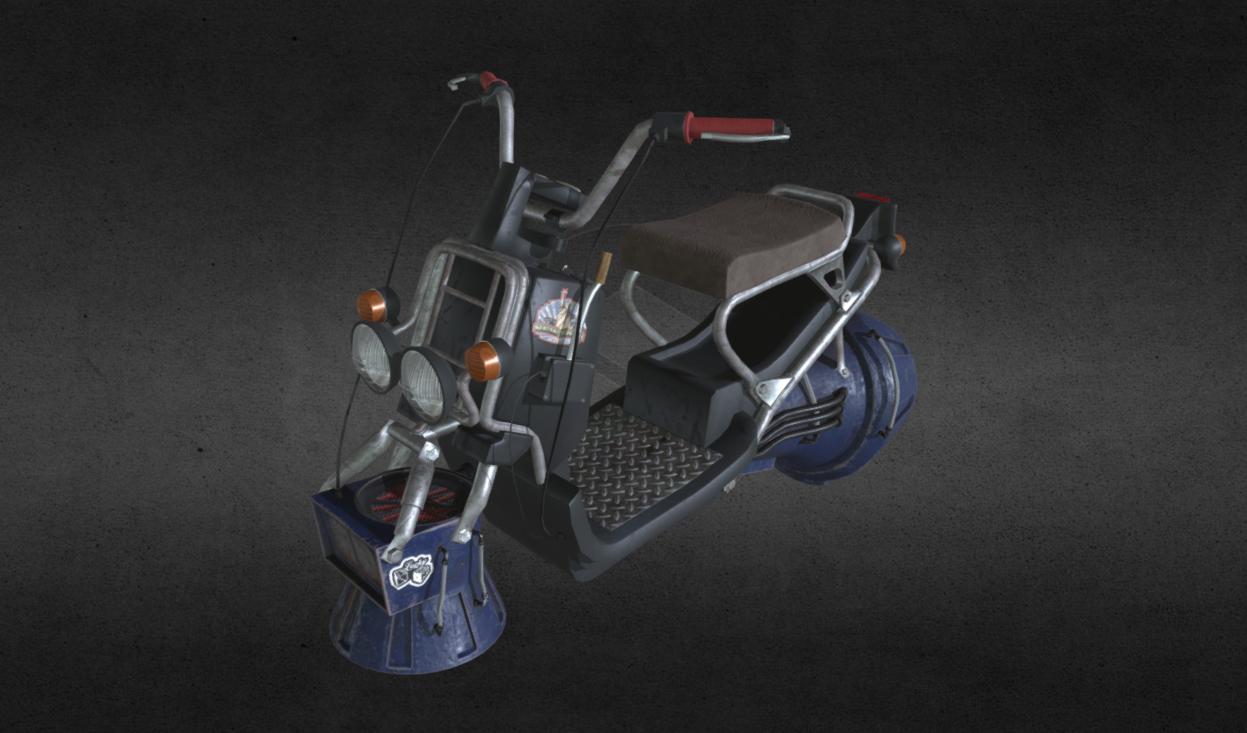 Sci-fi jet scooter