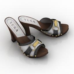 Shoes YUKA 3d model