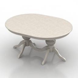 Table Cavio Verona white 3d model