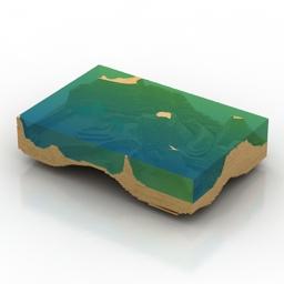 Table Woodlives Ocean 3d model