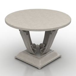 Table christopher guy round 3d model