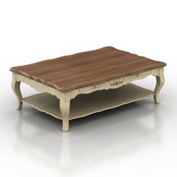 Table coffee Country Corner Chateau HPQ1 3d model