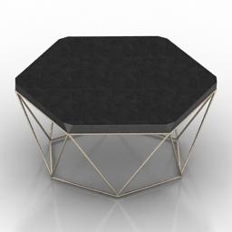 Table coffee Hexagon metal 3d model