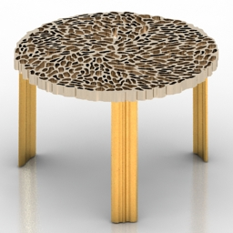 Table coffee KARTELL T-TABLE PATRICIA URQUIOLA 3d model