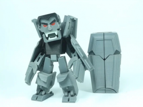 Transformable Dracula for Halloween