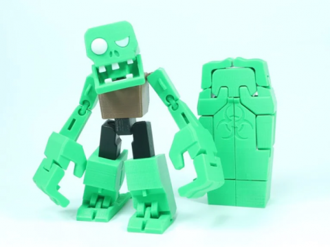 Transformable Zombieman for Halloween
