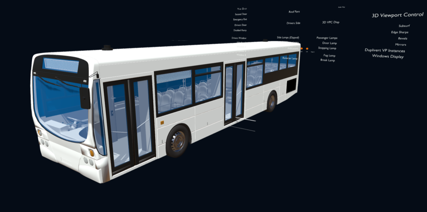 Transit Bus | Two Service Doors (variant)