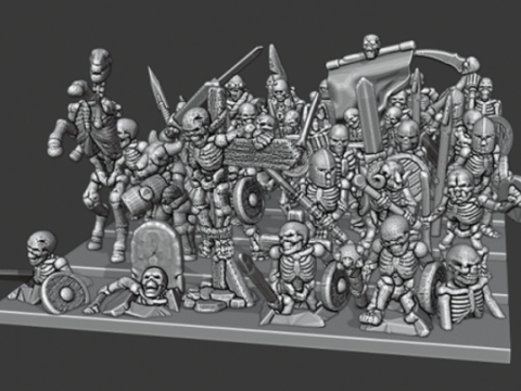 Warmaster Undead Skeletons