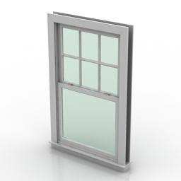 Window Double Hung 3d model