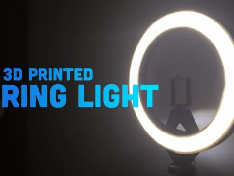 3D printed DIY light ring