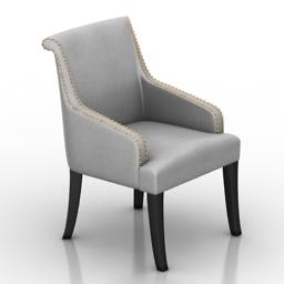 Armchair Moulins Dantone home 3d model