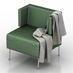 Armchair green 3d model