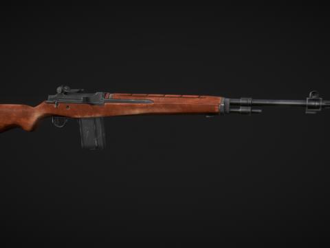 Battle-Worn M14 Rifle