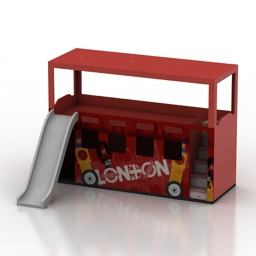 Bed London bus childrens 3d model