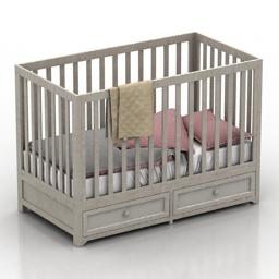 Bed childrens 3d model