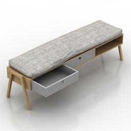 Bench-table 3d model