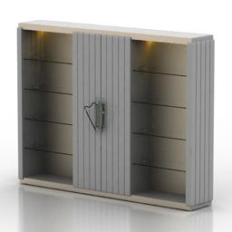 Bookcase Cornelio Cappellini 3d model