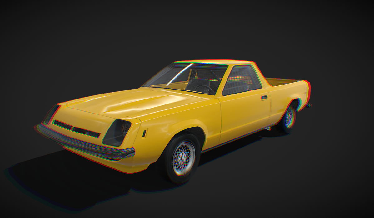Derby utility coupe '78 - Low poly model