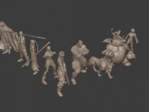 Final Fantasy VII Tabletop Miniatures 32mm/28mm