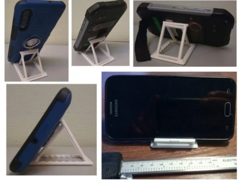 Foldable ipad and phone stand (the size of a credit card)