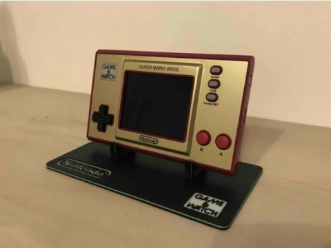 Game and Watch display stand with base - large and small model
