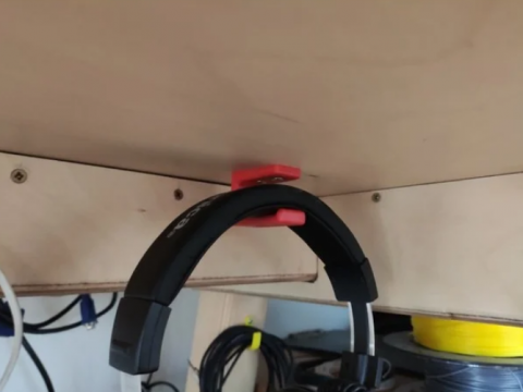 Headphones simple underdesk hook