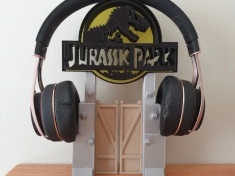 Jurassic Park Headphone Stand or Ornament
