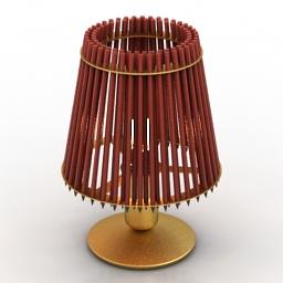 Lamp Tom Rossau PENCIL TABLE LIGHT Black Red 3d model