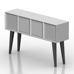 Locker console 60lines 3d model