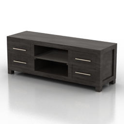 Locker tv stand 3d model