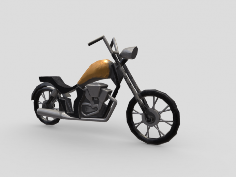 Low Poly Motorcycle