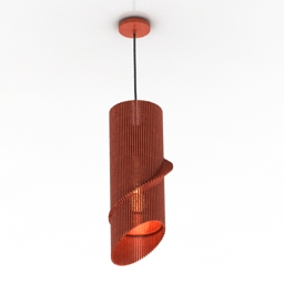 Luster Twisted Lasercut Wooden Lampshade 3d model