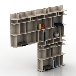 Rack BoConcept Como Book case 3d model